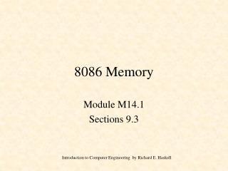 8086 Memory