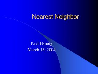 Nearest Neighbor