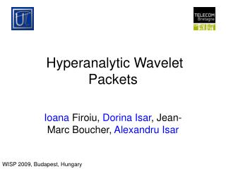 Hyperanalytic Wavelet Packets