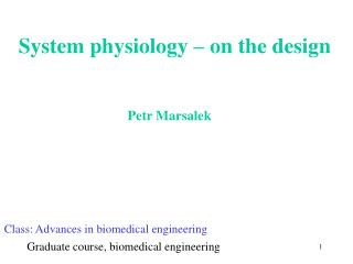 System physiology – on the design