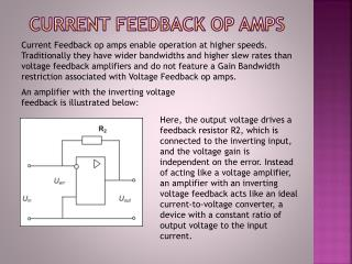 Current Feedback op amps