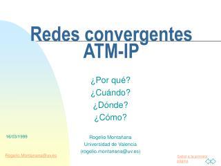 Redes convergentes ATM-IP