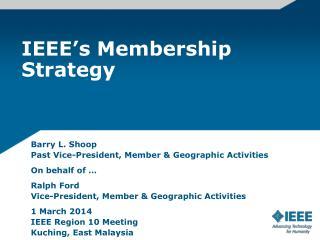 IEEE's Membership Strategy