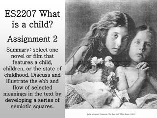 ES2207 What is a child? Assignment 2