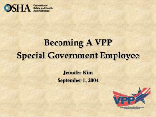 Becoming A VPP Special Government Employee