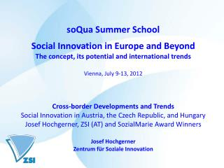 soQua Summer School Social Innovation in Europe and Beyond