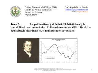 Política Económica I (Código: 2241) Cátedra de Política Económica Escuela de Economía FACES, UCV