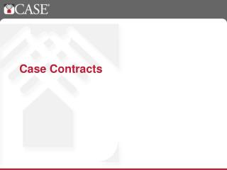 Case Contracts