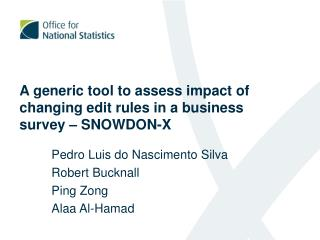 A generic tool to assess impact of changing edit rules in a business survey – SNOWDON-X