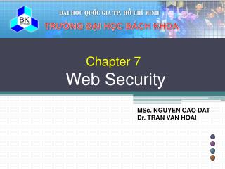 Chapter 7 Web Security