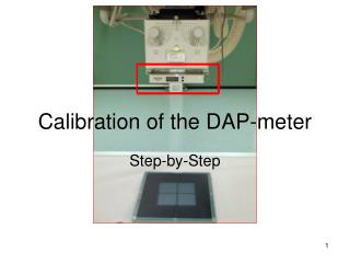 Calibration of the DAP-meter
