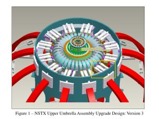 Figure 1 – NSTX Upper Umbrella Assembly Upgrade Design: Version 3