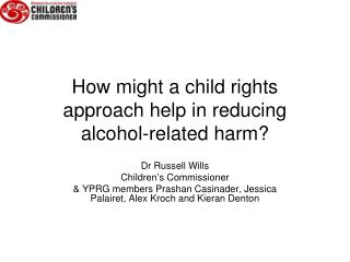 How might a child rights approach help in reducing alcohol-related harm?