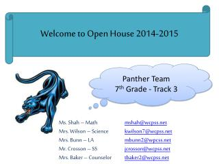Welcome to Open House 2014-2015