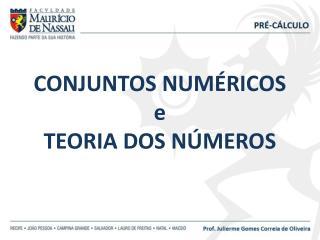 CONJUNTOS NUMÉRICOS  e  TEORIA DOS NÚMEROS