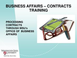 BUSINESS AFFAIRS – CONTRACTS TRAINING