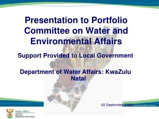 Presentation to Portfolio Committee on Water and Environmental Affairs