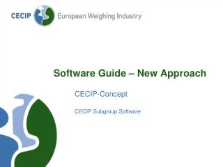 Software Guide � New Approach