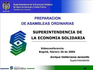 PREPARACION  DE ASAMBLEAS ORDINARIAS                  SUPERINTENDENCIA DE                  LA ECONOMIA SOLIDARIA