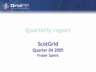 Quarterly report