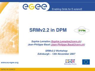 SRMv2.2 in DPM