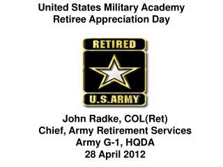 United States Military Academy Retiree Appreciation Day