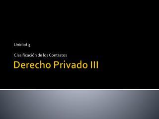Derecho Privado III