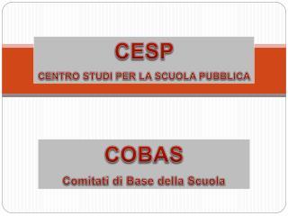 COBAS Comitati di Base della Scuola