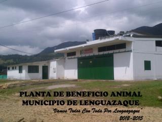 "PLANTA DE BENEFICIO ANIMAL  MUNICIPIO DE LENGUAZAQUE  "" Vamos Todos Con Toda Por  Lenguazaque """