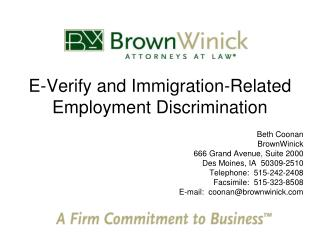 E-Verify and Immigration-Related Employment Discrimination