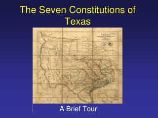 The Seven Constitutions of Texas