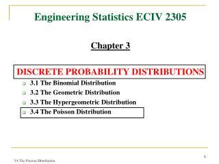 Engineering Statistics ECIV 2305