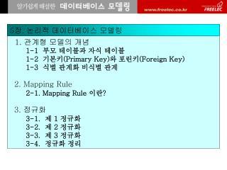 1.  관계형 모델의 개념        1-1  부모 테이블과 자식 테이블        1-2  기본키( Primary Key) 와 포린키( Foreign Key)