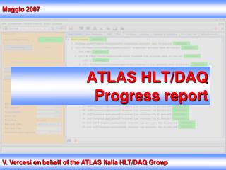 ATLAS  HLT/DAQ Progress report