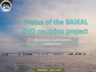 Status of the BAIKAL GVD neutrino project