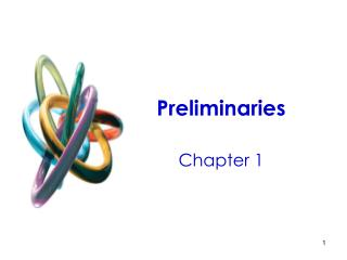 Preliminaries Chapter 1