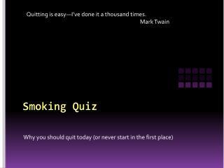 Smoking Quiz