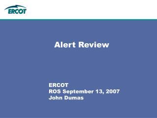 Alert Review