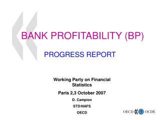 BANK PROFITABILITY BP