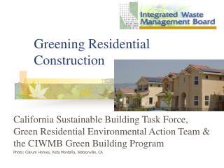 Greening Residential Construction