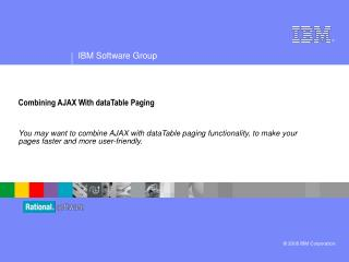 Combining AJAX With dataTable Paging