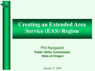 Phil Nyegaard Public Utility Commission  State of Oregon