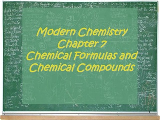 Modern Chemistry Chapter 7 Chemical Formulas and Chemical Compounds