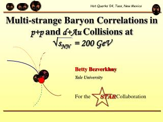 Multi-strange Baryon Correlations in  p+p and d+Au  Collisions at √ s NN   = 200 GeV