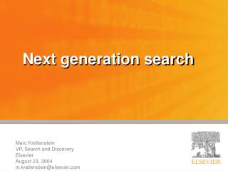 Next generation search