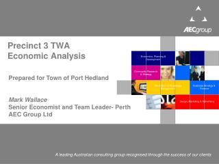 Precinct 3 TWA  Economic Analysis