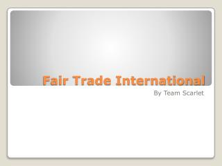 Fair Trade International