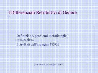 I Differenziali Retributivi di Genere