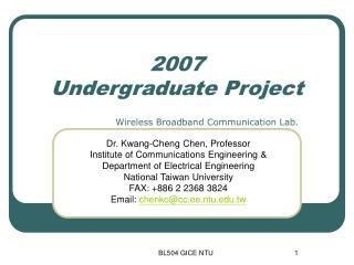 2007  Undergraduate Project