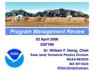 Program Management Review